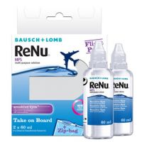 ReNu MultiPlus 2 x 60 ml Flight Pack